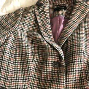 Talbots blazer, green and rose colors. Size 8